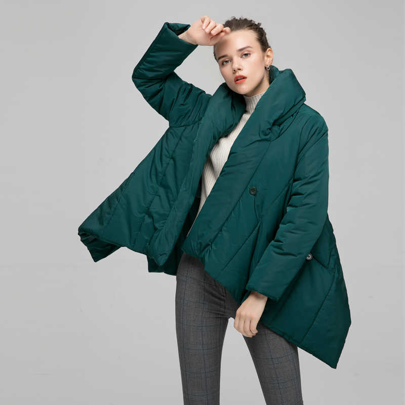 0350ad2592 YVYVLOLO Women's Winter Jacket Fashion Cloak Winter Coat Women Parka Loose  Plus Size Down Winter Coat Warm Jacket Overcoat