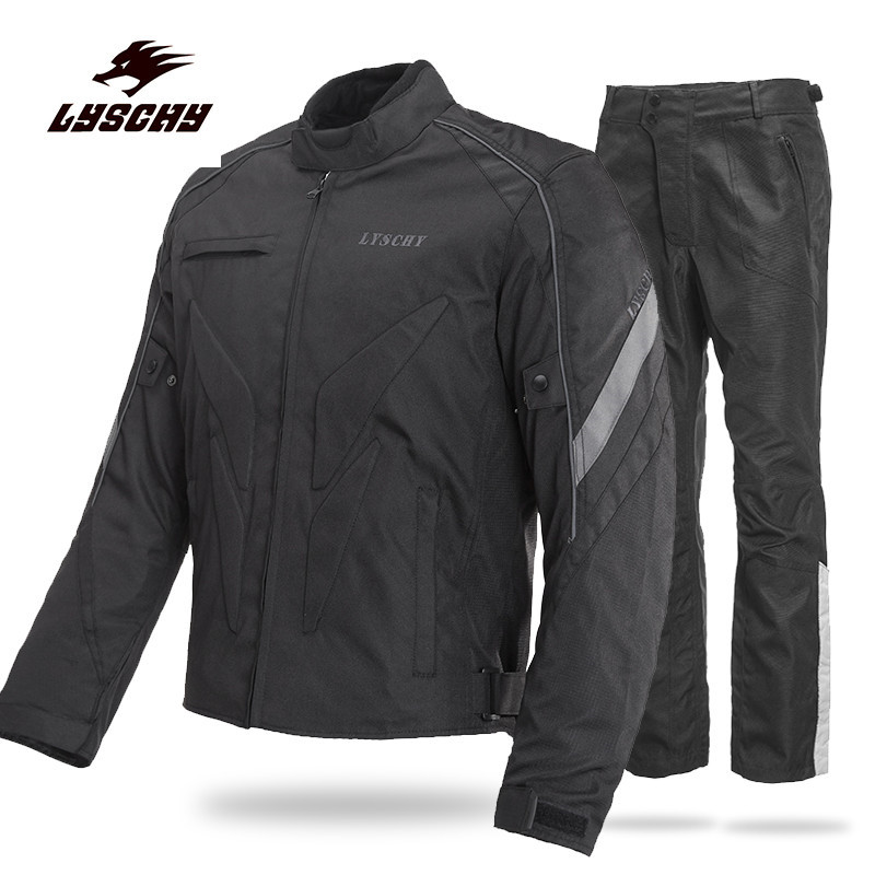 Motorcycle Men's Protecitve Jackets MX Motocross Off-Road Racing Suit Body Armor+ Riding Pants Clothing Set riding tribe men s motorcycle bikes slimming protective armor jackets motocross breathable cycling suits clothes with 6 pads