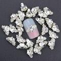 Ponen azules 10 unids/lote bijoux ongles 3d nail art decoración del rhinestone h del clavo de DIY accesorios de la aleación nails joyería manicura TN1125