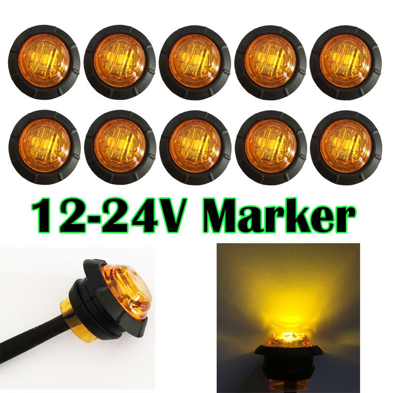Efficient New 10pcs 6 Led Red Truck Lorries Bus Clearance Side Marker Indicators Light Lamp Amber 25 Fast Color Atv,rv,boat & Other Vehicle