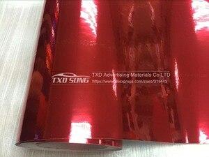 Image 5 - Najnowszy wysoki rozciągliwy wodoodporny UV chroniony czerwony chromowana lustrzana folia winylowa rolka arkusza Film samochód naklejka arkusz