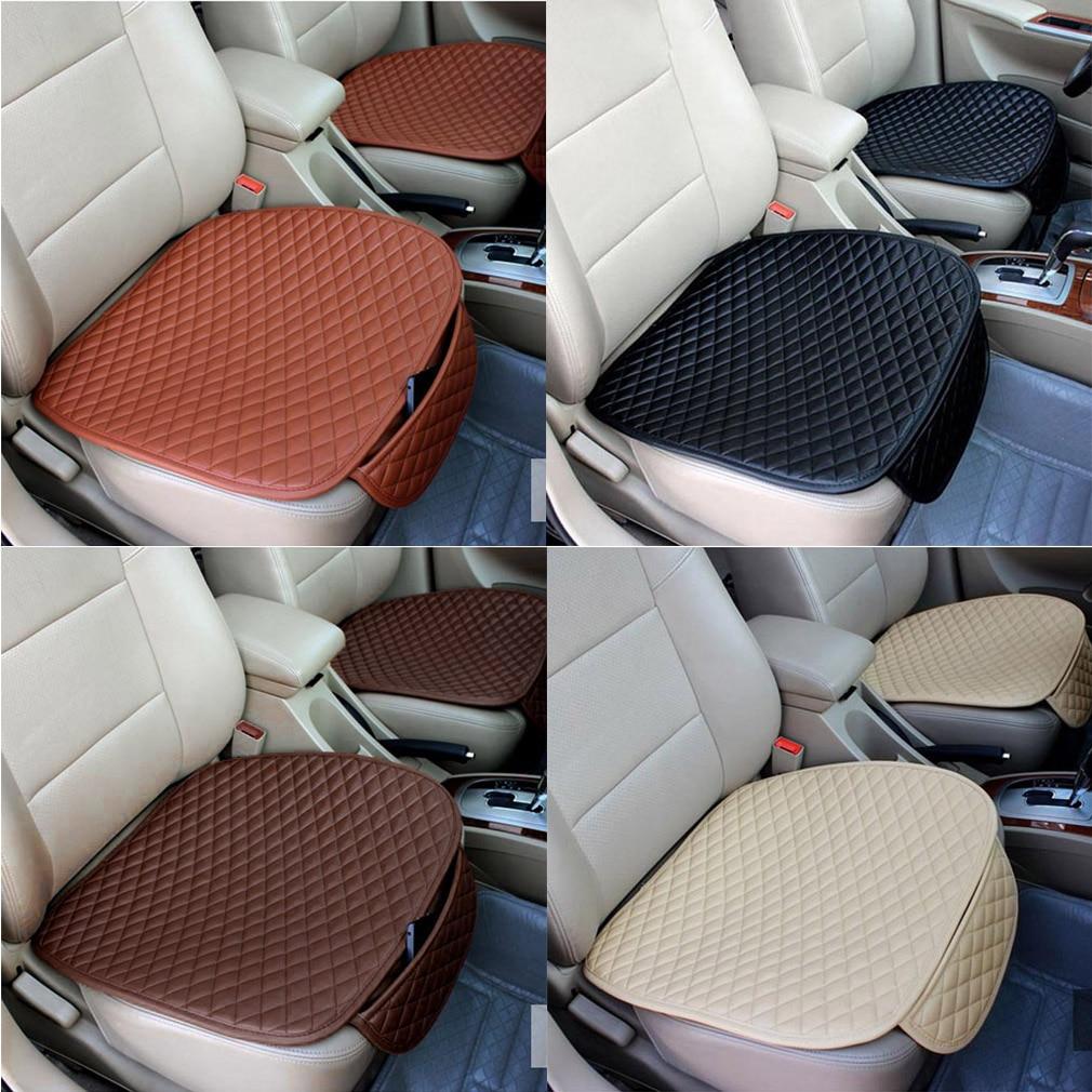 Universal-Pad Free-Tied-Seat-Covers Seat-Cushion Comfort Car Front Rhombus Soft Beige/orange