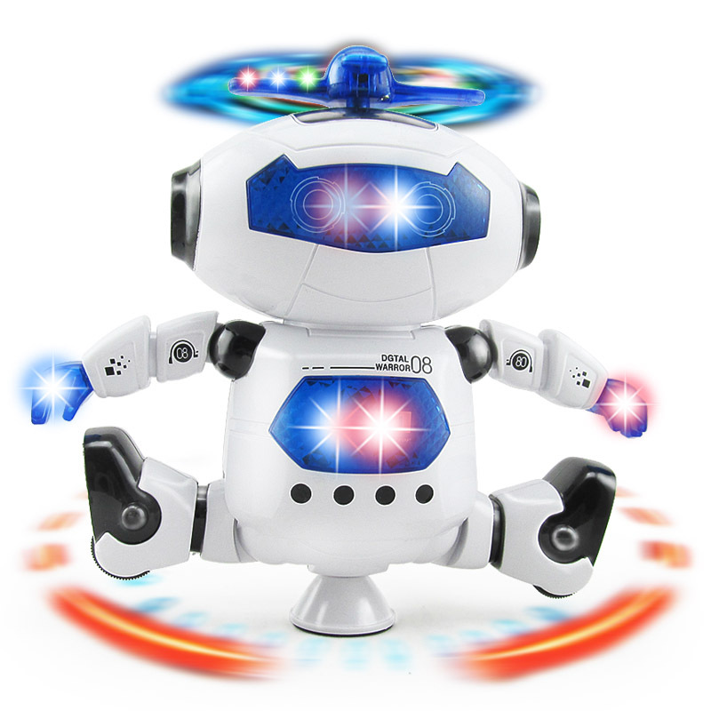 TOYSEA Childrens Electric Hyun Dance Robots Lighting Music Infrared Dancing Rotating Space Robots