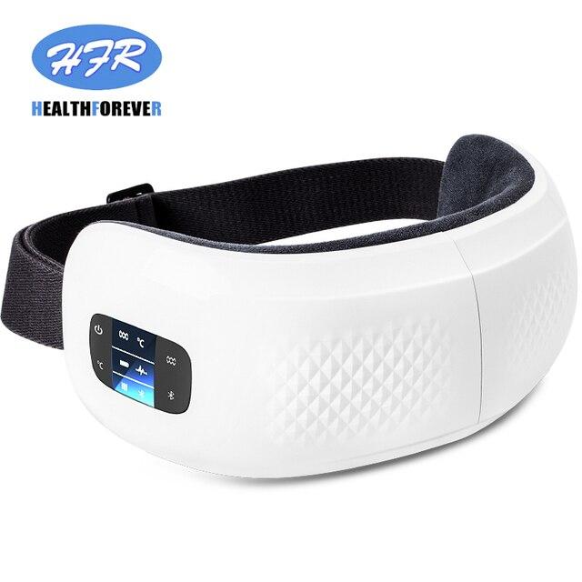 Massaggiatore termico dellocchio di pressione dellaria antirughe riscaldato vibrazione elettrica di rilassamento ricaricabile Usb con musica