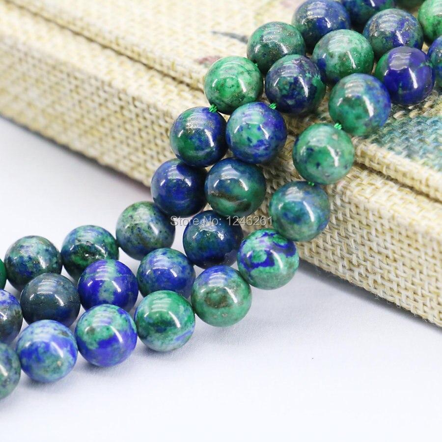 8mm Fashion Lapis lazuli Azurite Chrysocolla Beads Accessories ...