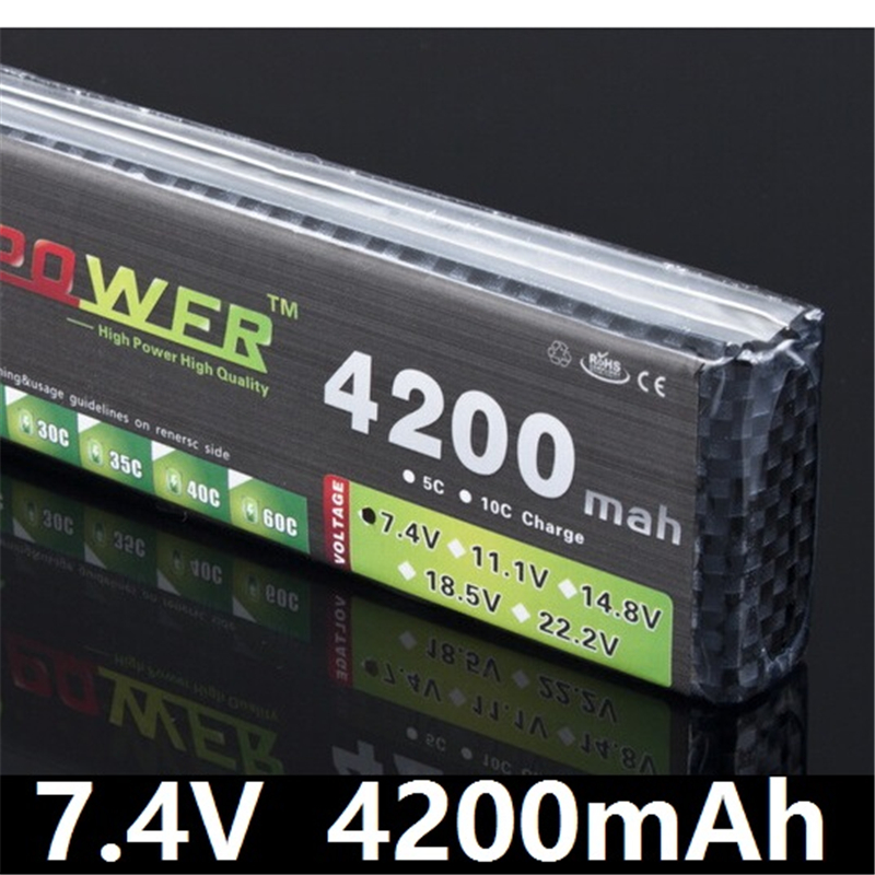 LION POWER 7.4V 4200mAh 25C 2S LiPo Battery With T/XT60 Plug for RC Car Airplane Helicopter 7.4 V 4200 mah 2S Lipo Battery 1pcs lion power lipo battery 11 1v 1200mah 25c max 40c t plug for rc car airplane helicopter