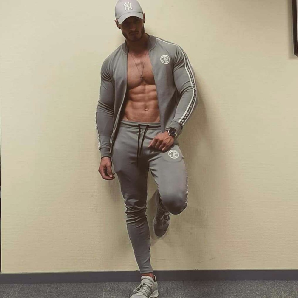 Tracksuit Men Sporting Suit Jacket Pant Hooded Brand-Clothing Casual Track Suit Men Jacket+Pant Men's Sets Sweatshirt