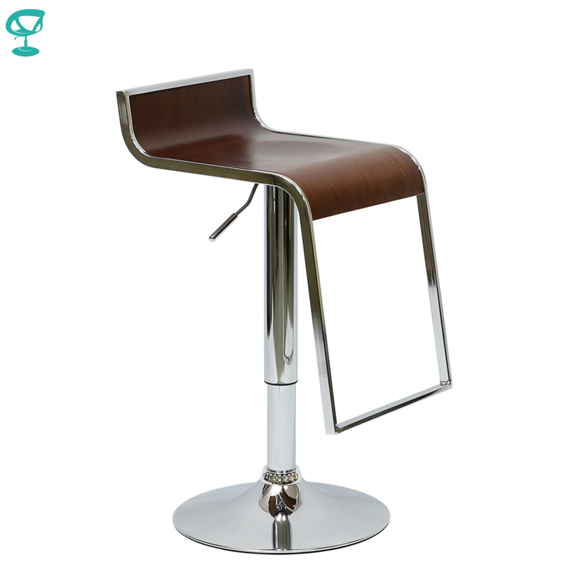 94890 Barneo N-10 Leather Kitchen Breakfast Bar Stool Swivel Bar Chair Hazel Free Shipping In Russia