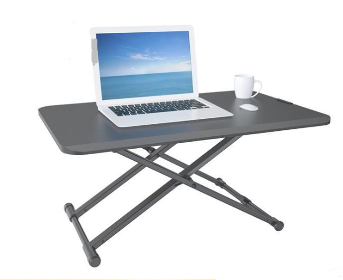 Support de moniteur support de table support de table ordinateur de bureau établi mobile réglage de la hauteur pneumatique