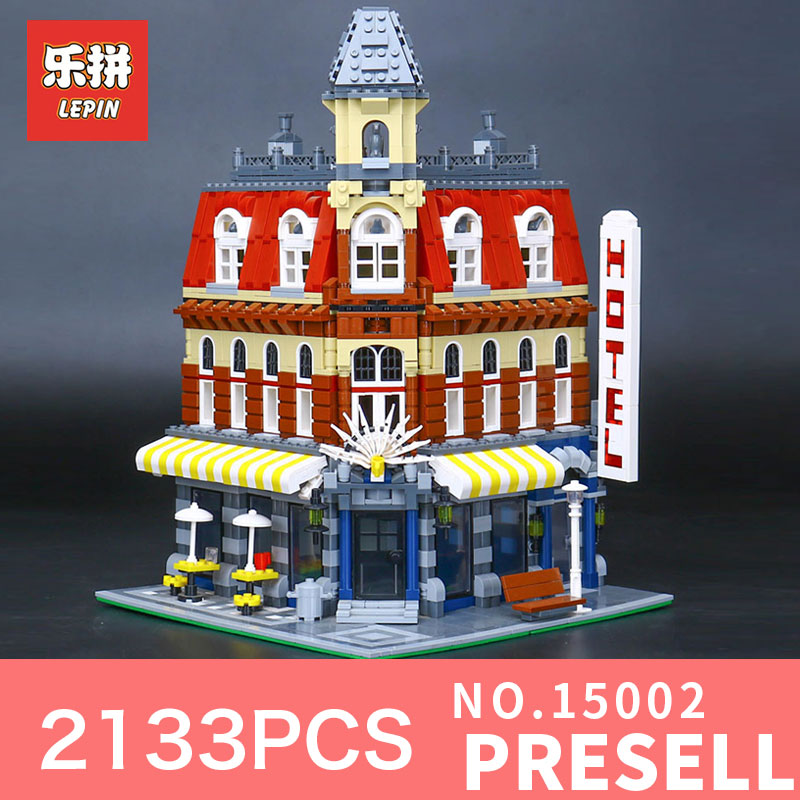 2133Pcs Lepin 15002 Building Blocks Bricks Kits Kid Cafe Corner DIY Educational Toy Children Holiday Gift 10182 intelligent 1 lcd electronic 7 grid pill capsule medicine organizer case blue white 2 x aaa