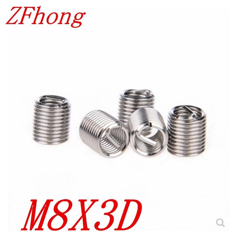 20pcs M8  M8*3D  Wire Thread Coil Insert For Thread Repair,coil Insert