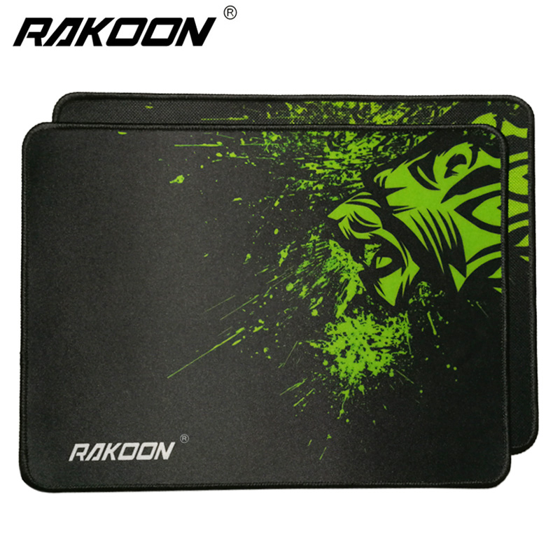 Rakoon Gaming Mouse Pads 32x24cm Antislip Speed/Control Locking Edge Lion Computer Mouse Mat Mousepad Rug For PC Laptop Notebook rakoon 30x25cm gaming mouse pad black faced red blue black green lock edge rubber speed mouse mat for pc laptop computer