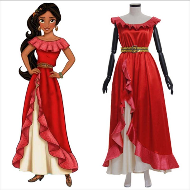 2018 Cheap Arrival Elena of Avalor Elena Beautiful Princess Dress Adult Women Halloween Fancy Dress Cosplay Costume Custom Made