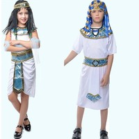 2018 Boy Girl Arab India Egypt Cosplay Costume Fancy Dress Children Costumes Halloween Carnival Party Supplies