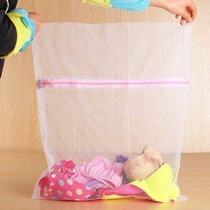 Image 5 - 2019 katlanabilir fermuarlı örgü çamaşır yıkama torbaları Delicates Lingerie çorap iç çamaşırı çamaşır makinesi koruma ağı örgü çanta