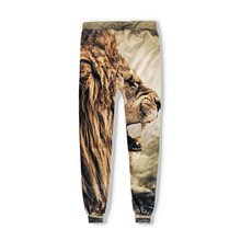 Brand Animal Lion 3D Harem Pants Printed Men Woman Harajuku Yellow Lion Pants Fashion Leisure Loose Sweatpants Thin Tracksuits