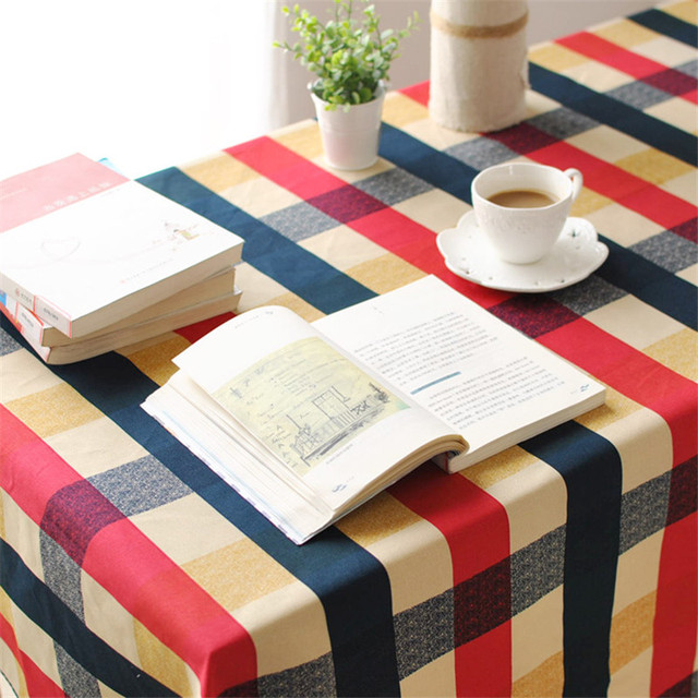 a8cc9d9972433 BZ313 Mediterranean plaid cotton table cloth fresh leaf flower fashion home  hotel drape factory outlets American country style