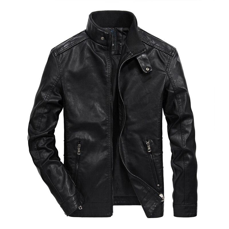 New 2018 Autumn Winter Motorcycle Leather Jacket Men Bomber Moto Biker Faux Leather Jackets Male Outwear Coat Pilot Jacket