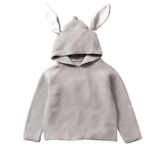 Autumn/Winter New Baby Boys Sweaters 3D Rabbit Cotton Pullover Kids Girls Knitted Sweater 1-5Y kids sweaters boys plaid sweaters children pullover autumn baby girls knitted top child heart turtleneck sweater winter clothes