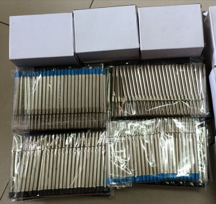 Drop shipping blue ink pen refill 2000pcs refills in stock for sale black and 60pcs a lot free