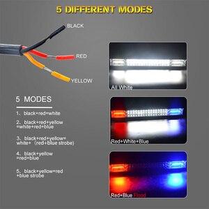 Image 3 - 20 بوصة مصباح ليد للطرق غير الممهدة بار الأزرق الأحمر كومبو شعاع 12 فولت 24 فولت الأضواء LED العمل الضباب ضوء لشاحنة جرار UAZ ATV SUV MPV 4X4