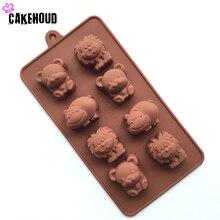 2017 new 1PCS hippo lion bear shape silicone mold, jelly, chocolate, soap, cake decoration DIY kitchen utensils, baking tray