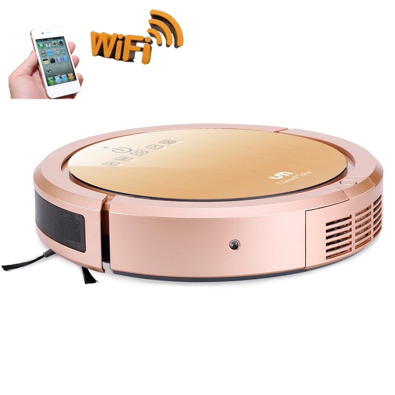 Robot Vacuum Cleaner,Ultrasonic Navigation, APP Control, Suction ,Wet Dry Mop with Water tank ,New Aspirapolvere cleanmate robot vacuum cleaner qq6 mini cleaner ultrasonic app in wifi control dry wet mop water tank virtual wall