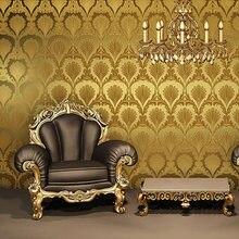 3D Обои Для Ночной Клуб Золотые Обои Золото КТВ 3D Стереоскопический Отель Сейф Бар Развлечения Фоне Стены Рулона Бумаги