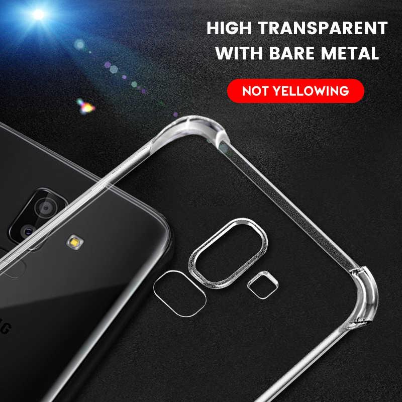 , Odporna na wstrząsy poduszka powietrzna TPU Case do Samsung Galaxy S10 S9 S8 J8 J6 J4 Plus 2018 J2 rdzeń J7 J5 J3 2017 S10E kryształ miękkie Slim okładka