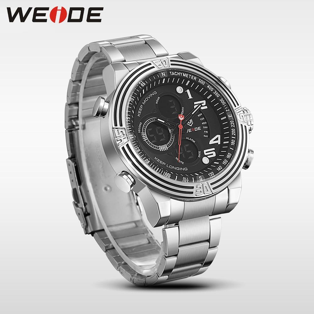 Weide reloj de pulsera deportivo de cuarzo de lujo, moda y casual, - Relojes para hombres - foto 4