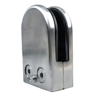 DHDL 8X Stainless Steel Glass Clamp Holder For Window Balustrade Handrail 65 43 26 Mm