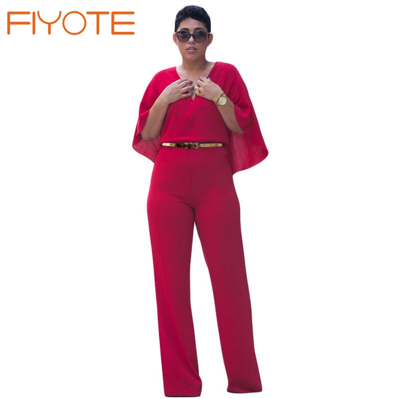 high style fancy trendy v neck cape jumpsuit