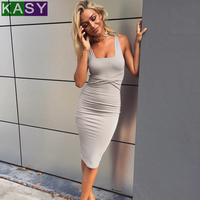 5b37d124351f Women Sexy Black Ruched Tank Bodycon Dress XS Long Summer Dress Party Night  Scoop Neck Sleeveless