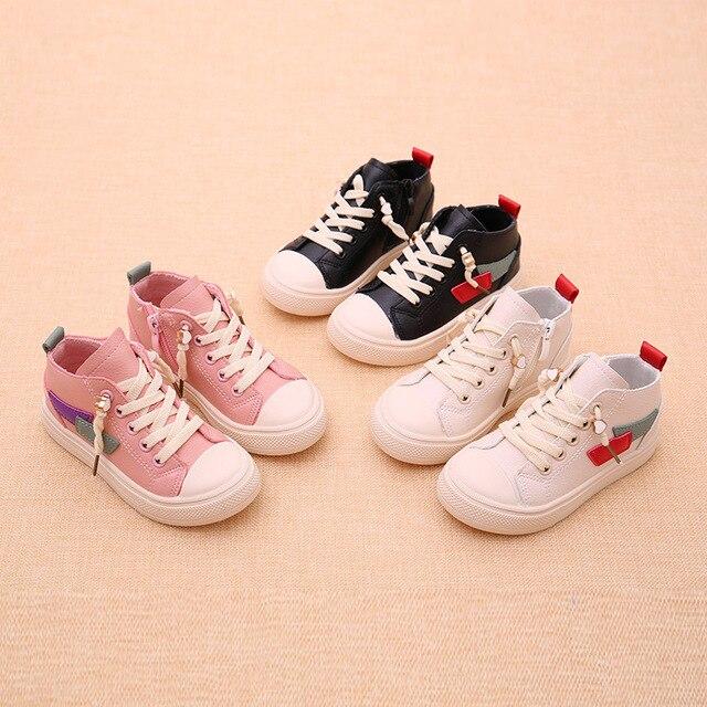 b7af7ac41 طفل بنات أولاد أحذية رياضية الخريف الربيع الاطفال حذاء مسطح خليط الطفل  الصغير المطاط أحذية حجم