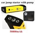 StarterJumper con bomba de banco de potencia de salto de Arranque de Emergencia del coche Fuente de Alimentación Portátil 10000 mAh Paquete de Energía Del Cargador para el Ordenador Portátil