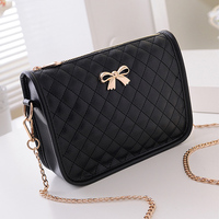 Fashion Women Handbag Fashion Brand Bag Bow Shoulder Bag Messenger Bag Clip Solid Handbag For Girls