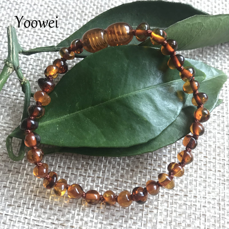 HTB1KOSqn TI8KJjSsphq6AFppXa1 Yoowei Natural Amber Bracelet/Anklet for Gift Women Amber Bracelet Baltic 4mm Small Beads Baby Teething Custom Jewelry Wholesale