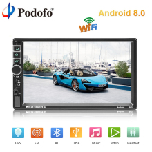 Podofo Car Multimedia Player Android 8 0 Universal 7 2DIN Bluetooth GPS autoradio Touch Screen MP5