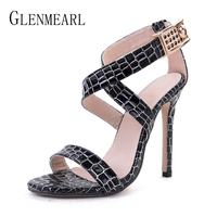 Women Sandals Summer Shoes High Heels Brand Woman Shoes Open Toe Ankle Strap Sandals Fashion Gladiator