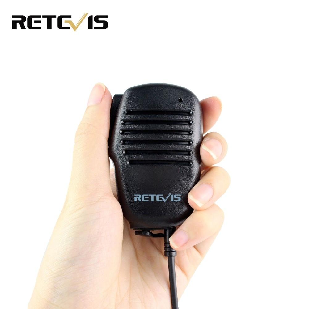 Retevis 2 Pin Mini PTT Lautsprecher MIC Walkie Talkie Zubehör Für Baofeng UV5R 888 s Für Kenwood Für TYT Zwei weg Radio C9021A