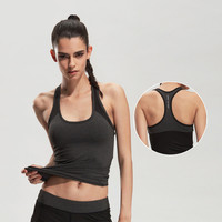 LoRun Brand Sexy Yoga Tops Women S Sleeveless Short Shirt Slim Fit Running Vests Female Patchwork