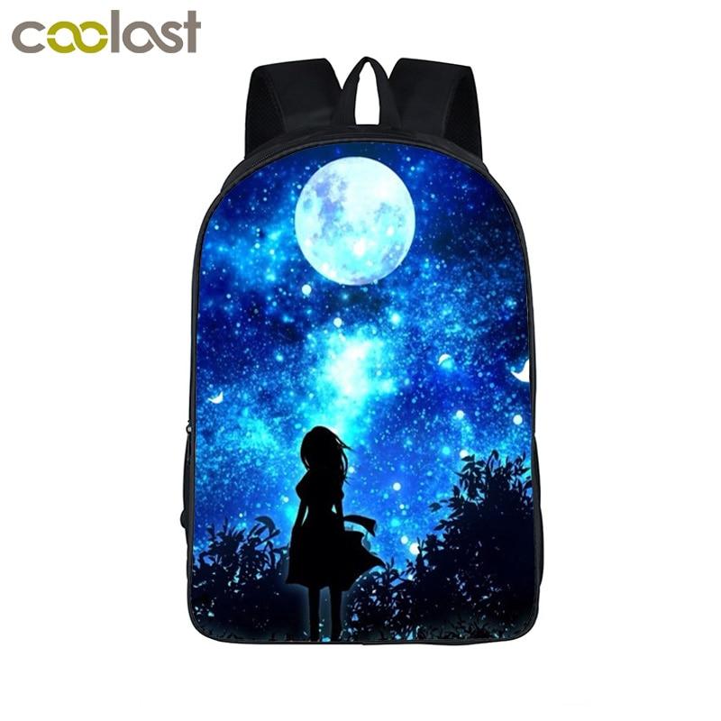 Galaxy / Universe / Unicorn School Backpack For Teeange Girls School Bags Starry Night / Space Star Schoolbags Kids Book Bag