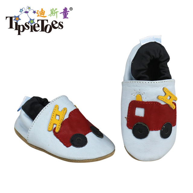 Tipsietoes Brand Cartoon Leather Stitching Baby Kids Toddler Shoes Moccasins For Boys First Walkers New 2016 Autumn Spring