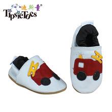 Tipsietoes marka Cartoon skórzane szwy dziecięce dziecięce buty dla małego dziecka mokasyny dla chłopców buciki nowe 2020 babie lato tanie tanio 0-1 M Pasuje prawda na wymiar weź swój normalny rozmiar Prawdziwej skóry Graniczy Hook loop RUBBER Patch Wiosna jesień