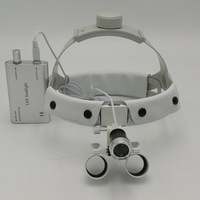 2.5X/3.5X Dental Surgical Loupe Magnifier Optical Dentist Binocular Magnifying Surgery Loupe with LED Light