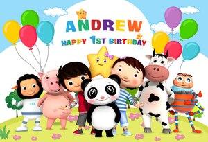 Image 5 - Фон для фотосъемки новорожденных детей 1 день рождения на заказ с именем и возрастом