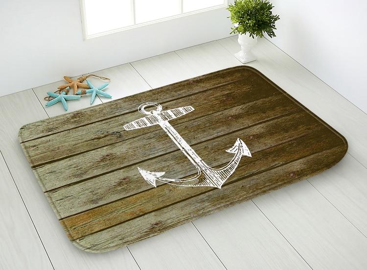 40x60 cm 45x75 cm gedrukt vloermat retro hout patroon tapijt