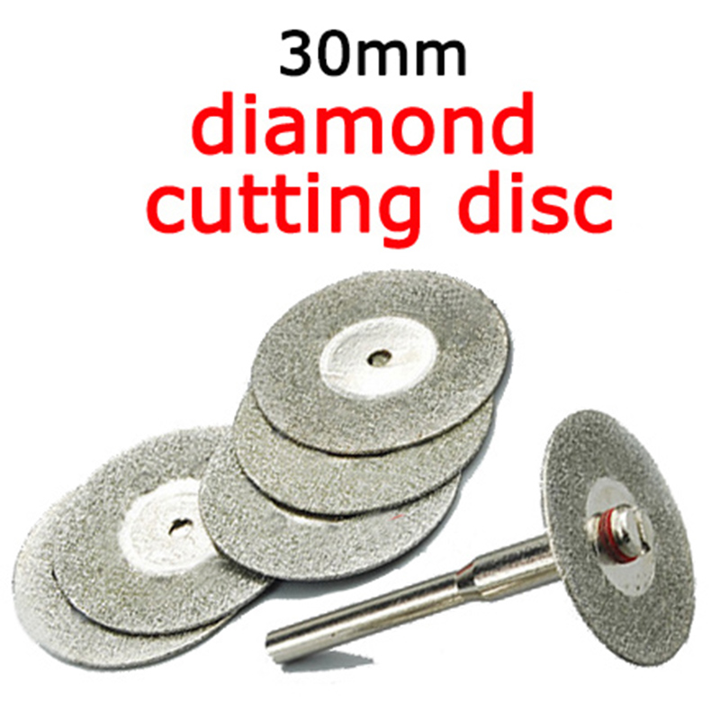10pcs 30mm Mini Cutting Disc For  Dremel Accessories Diamond Grinding Wheel Rotary Tool Circular Saw Blade Abrasive Diamond Disc