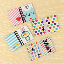 1PC Creative 180 Pages Sticker Mini Animal Sticky Notes 4 Folding Memo Pad Gifts School Stationery Supplies