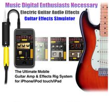 Rig Guitar Link Audio Interface System AMP Amplifier Guitar Effects Pedal Convertor Adapter Cable Jack for iPhone/iPad/iPod